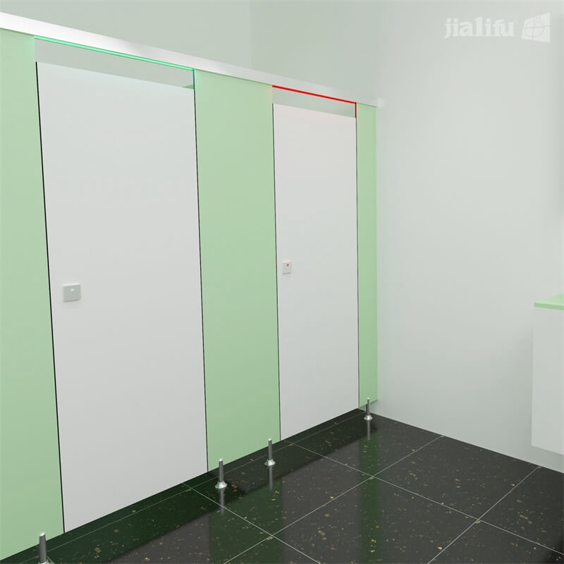 top rail led light toilet partitions